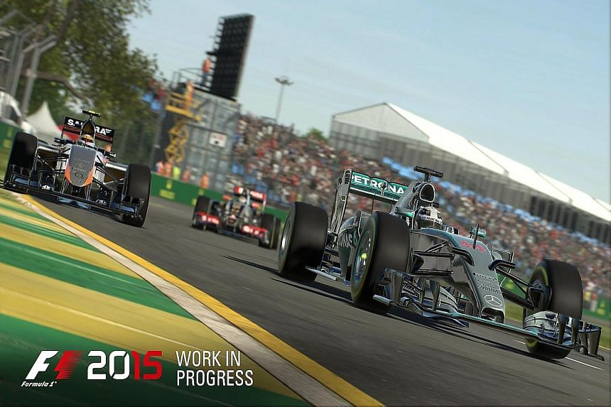Even when the difficulty level of the F1 2015 game is set to 'easy', the racing mechanics are complicated and a player has to know when to change his tyres according to weather conditions.