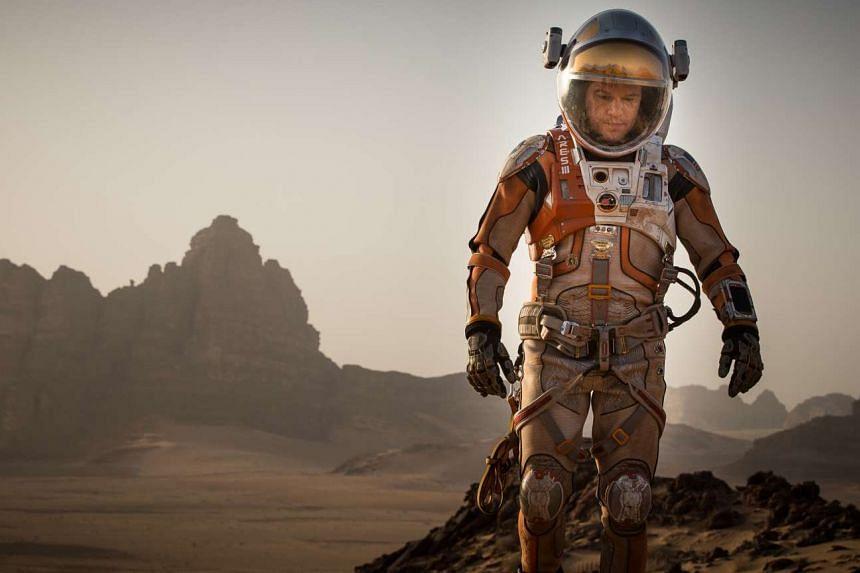Actor Matt Damon in a still from the movie The Martian.