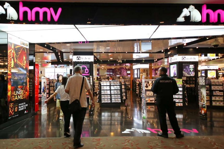 The exterior of the HMV store in 313@somerset, which closed down in 2013.