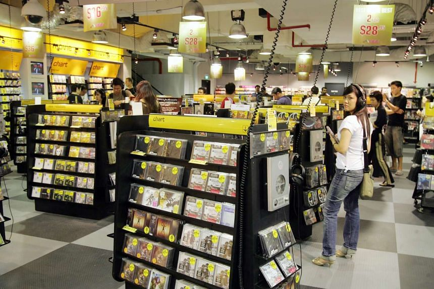 The HMV store at Heeren, photographed when it reopened after renovations in 2006
