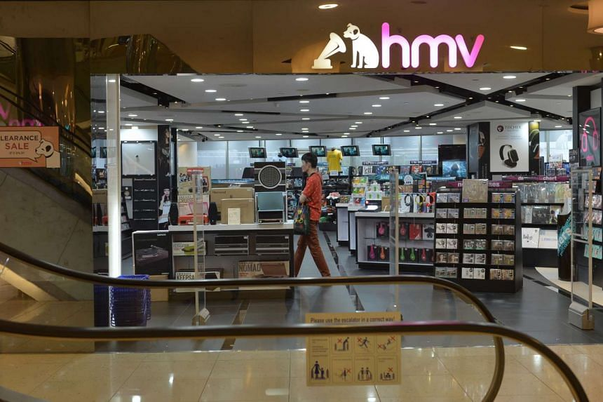 The last Singapore HMV store in Marina Square closed on Sept 30, 2015.
