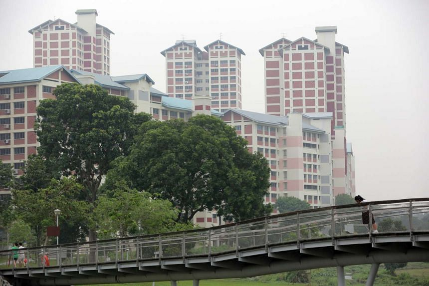 The haze at Bishan Park at around 5.30pm on Tuesday (Sept 29).