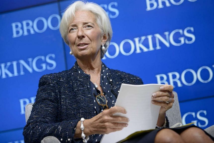 International Monetary Fund Managing Director Christine Lagarde speaks at the Brookings Institution Sept 22, 2015 in Washington, DC. Lagarde said growth was picking up in the euro area and Japan and still looked robust in the United States and Britai