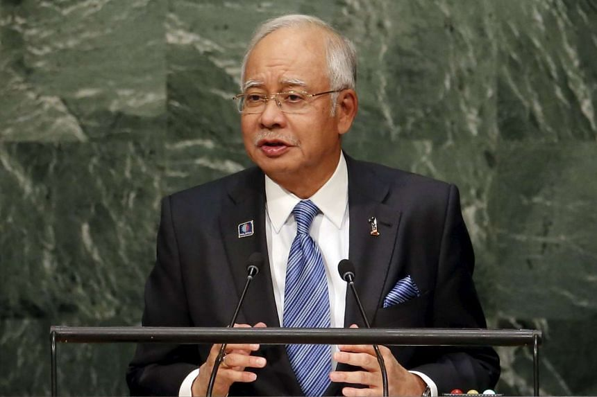Malaysia's Prime Minister Najib Razak at a plenary meeting of the United Nations Sustainable Development Summit 2015 on Sept 27, 2015.