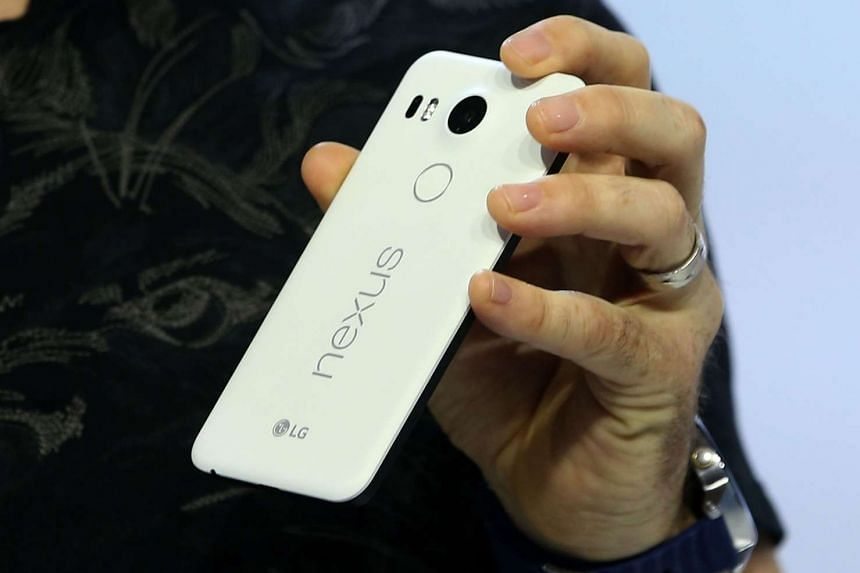 Google VP of engineering Dave Burke announces a new Nexus 5X phone during a Google on Tuesday  in San Francisco, California.