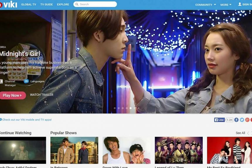 Viki's home page is full of a variety of shows in different languages. There are programmes from countries like China and South Korea.
