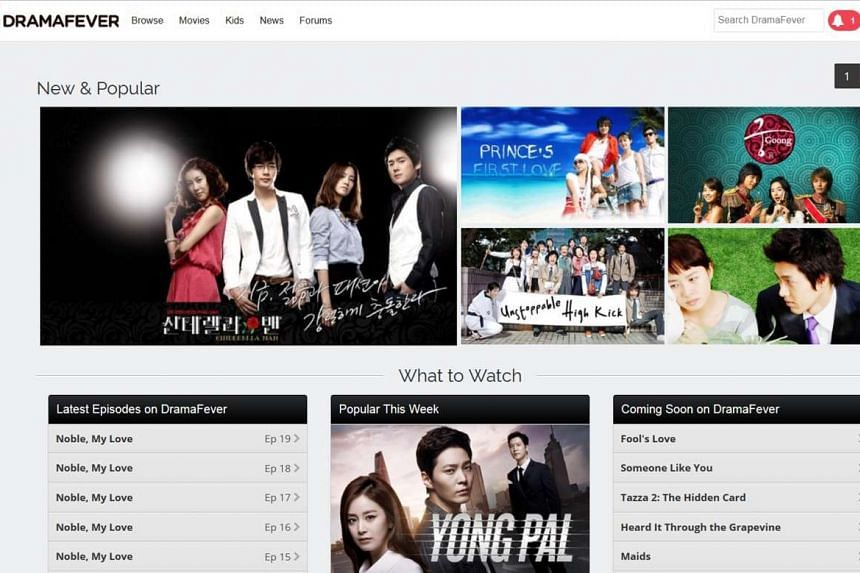South Korean video streaming service DramaFever offers Korean dramas as well as popular variety programmes.
