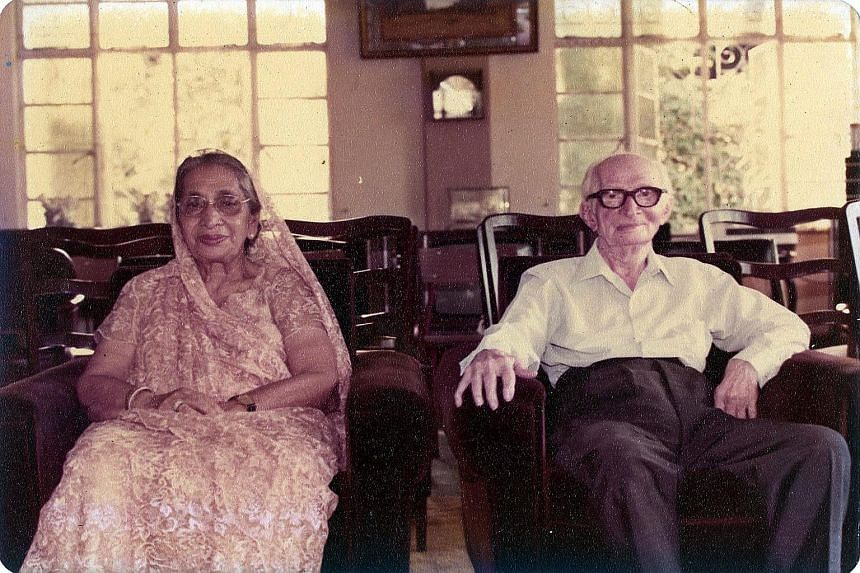 Mr Noshir Mistri's parents (above), Mr Hormusji Mistri and his wife Khorshed, and his uncle (right), the late Navroji Mistri.