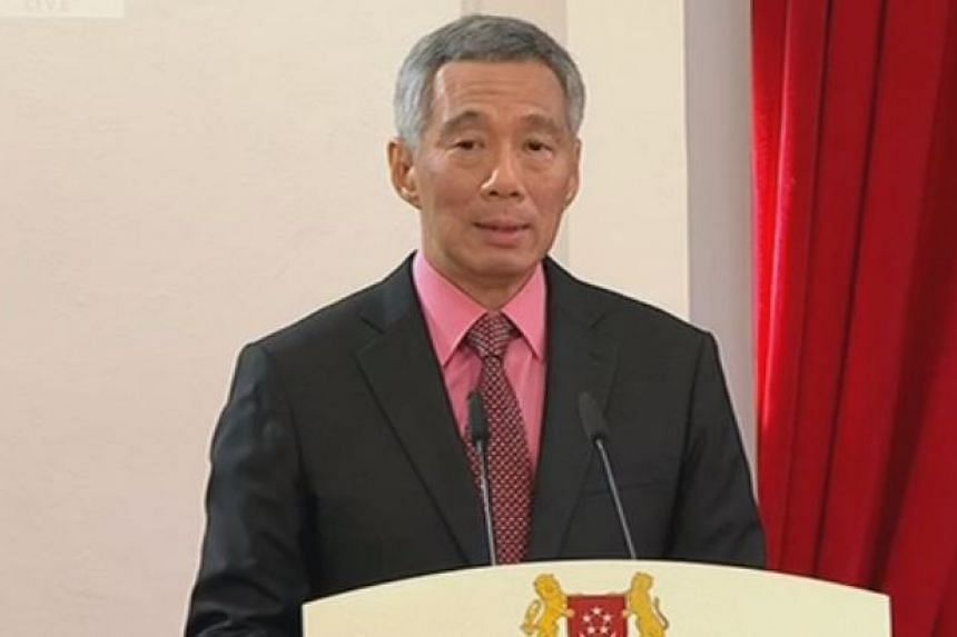 PM Lee Hsien Loong speaking after being sworn in at the Istana.