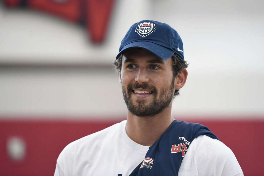Kevin Love of the 2015 USA Basketball Men's National Team was given four to six months to recover from a dislocated left shoulder in late April.