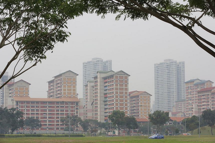 The haze situation at Bishan on Sept 27, 2015.