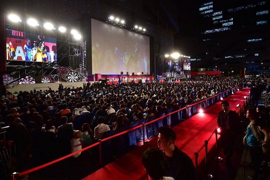 People attending the opening ceremony of the Busan International Film Festival (BIFF) on Oct 1, 2015.