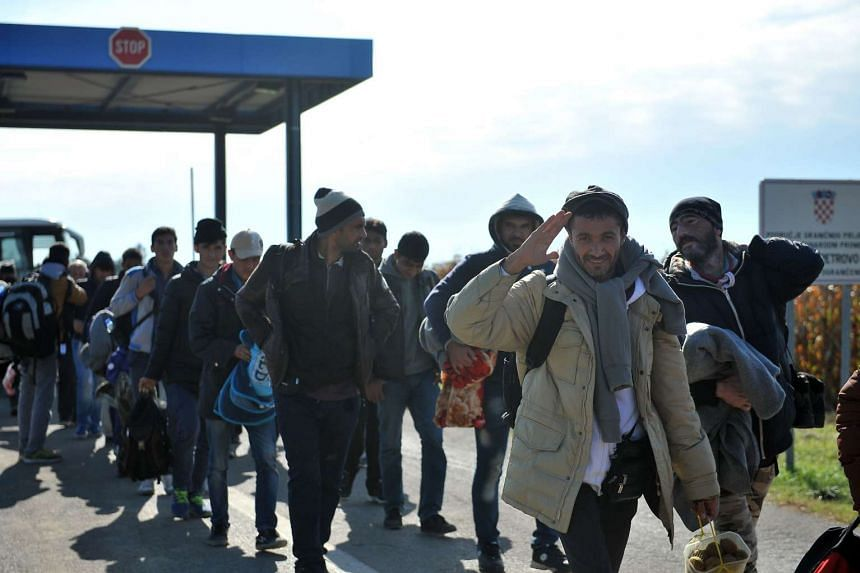 The refugee crises saw 280,000 migrants crossing the border into Germany - more than in all of 2014.