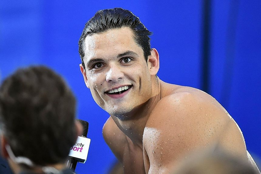 France's Florent Manaudou reportedly hurt his wrist while lifting weights in Marseille.