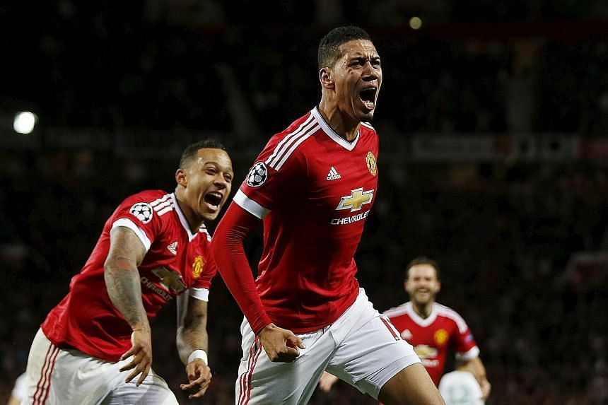 Chris Smalling got the Old Trafford crowd humming after his goal put the home team in the lead. But United had to hang on in the end for the 2-1 victory.