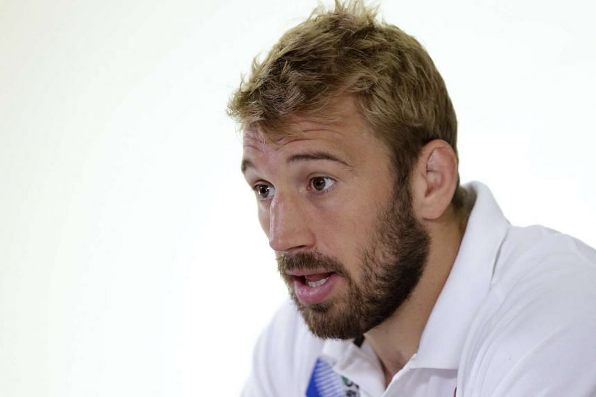 England's Chris Robshaw during a press conference.