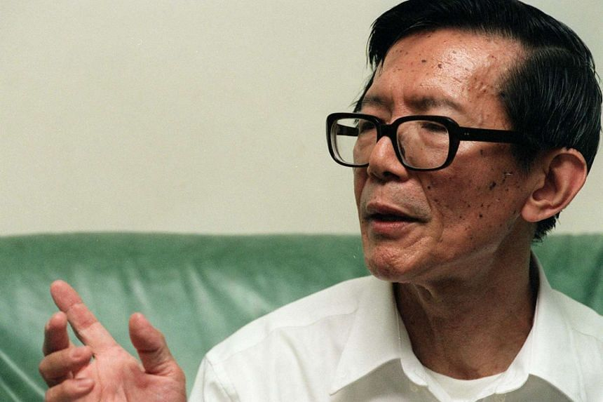 A file photo of Dr Chia Thye Poh in 1998.