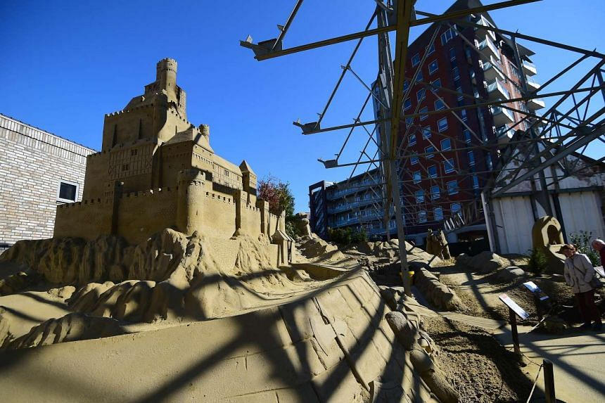 """The """"sandcastle hotel"""" in the small southern Dutch city of Oss."""