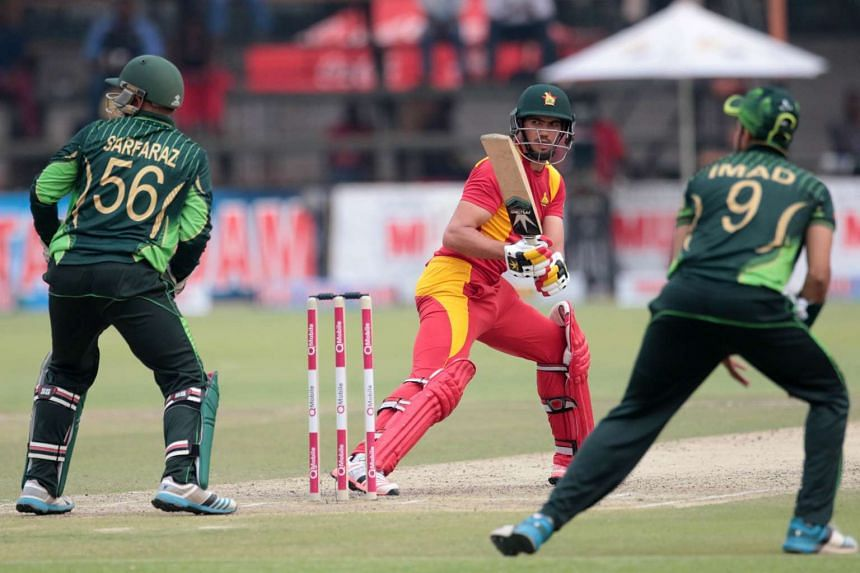 Zimbabwe batsman Graeme Cremer is in action during during the first in a series of three ODI cricket matches between Pakistan and hosts Zimbabwe at Harare Sports Club on Oct 1, 2015.