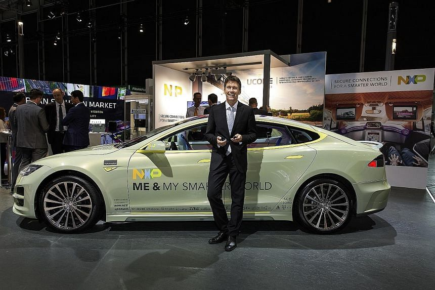Mr Lars Reger, chief technical officer of Dutch chip maker NXP, says there are solutions to prevent or minimise the risk of cyber attacks on car systems.