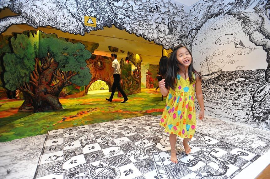 One of the spaces at the Keppel Centre for Art Education is this Art Playscape, which unfolds like a giant, colourful storybook.