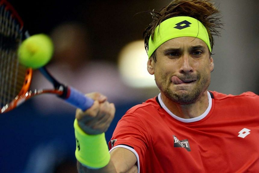 Spain's David Ferrer during their men's singles semi-final match of the 2015 Malaysian Open tennis tournament in Kuala Lumpur on Oct 3, 2015.