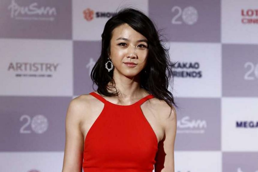 Chinese actress Tang Wei at the opening ceremony of the Busan International Film Festival on Thursday.