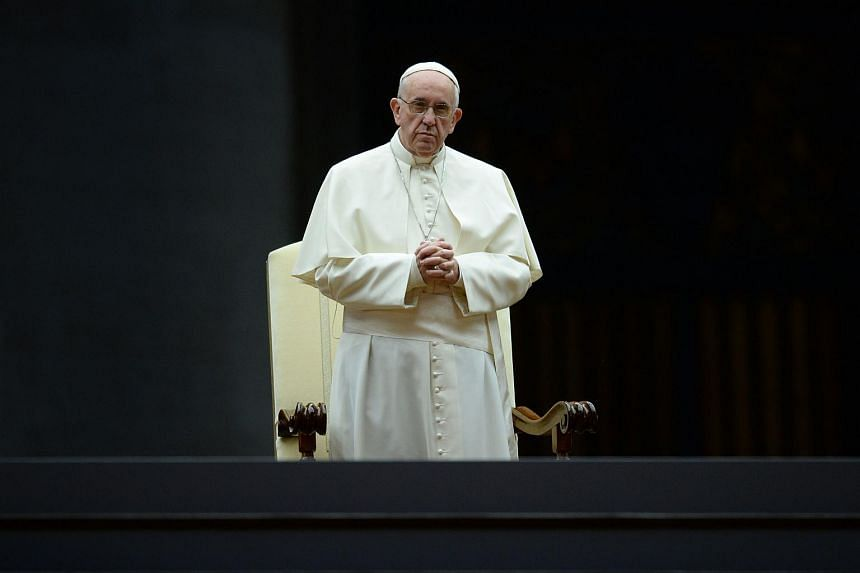 Pope Francis attending a vigil prayer on the eve of the XIV General Assembly of the Synod of Bishops on Oct 3, 2015.