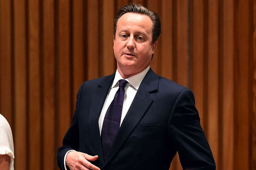 British Prime Minister David Cameron arriving for the Leaders' Summit on Countering ISIS and Countering Violent Extremism on the sidelines of UN General Assembly on Sept 29, 2015.