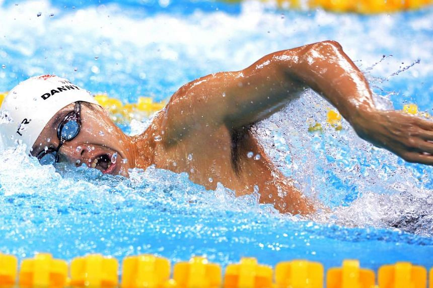 Singaporean swimmer Danny Yeo competing in the 200m freestyle event at the OCBC Aquatic Centre on Oct 4, 2015. He finished joint-second.