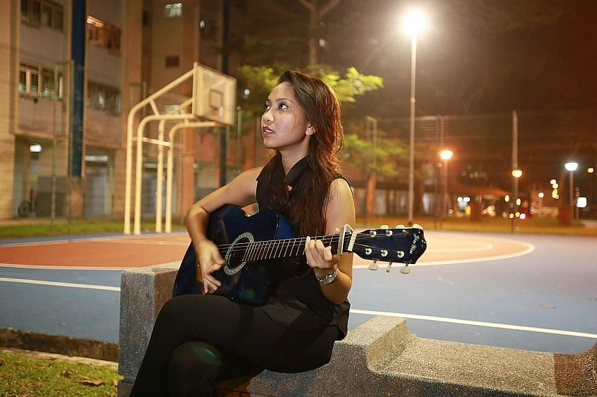 Music was Ms Rohaishah Hamid's refuge from all her frustrations. She taught herself to play the drums and the guitar. She is now an art teacher in Peirce Secondary School, and earlier this year the 24-year-old won the award for being the school's Mos