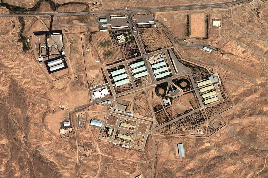 An image showing the Parchin military site in Iran, which is said to be possibly involved in nuclear weapons research. Iran will stop its pursuit of plutonium for 15 years.