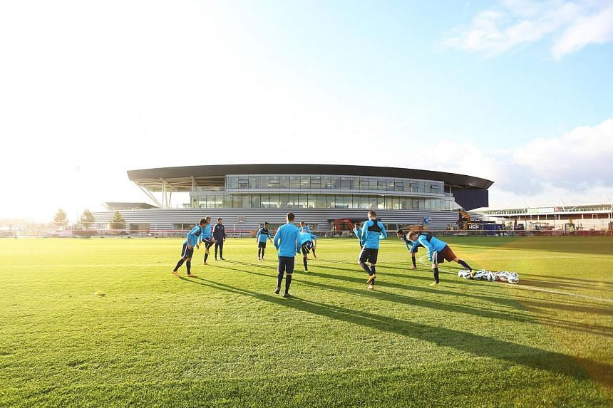 Above: Promising talents get to train in the City Football Academy that boasts all the bells and whistles. Right: Coach Jason Wilcox's side have not lost in eight U-18 Premier League matches this season.