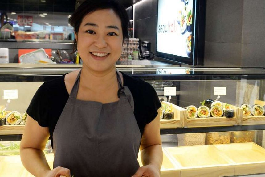 Seoul Roll's co-owner Stella Jung sells improvised Korean seaweed rice rolls which are stuffed with beef bulgogi or spicy dried cuttlefish.