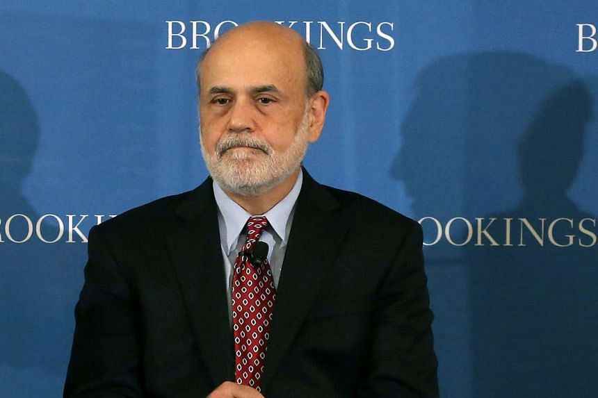 Mr Ben Bernanke speaking during a forum hosted by the Brookings Institute in Washington on Aug 17, 2015.