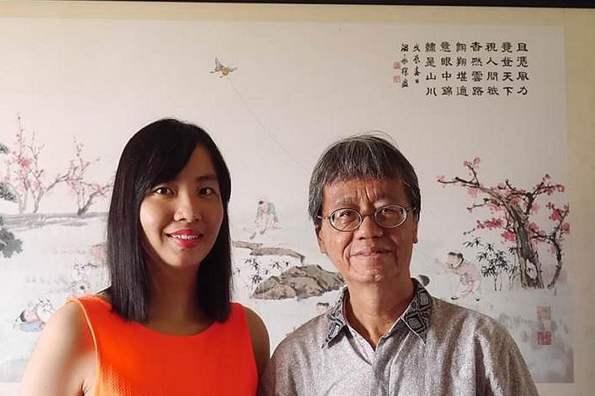 Mr Chin Kee Thou, seen here with his daughter Michelle, enjoys reading Buddhist scriptures and going on meditation retreats. He has been writing to the Forum page since April 2006.