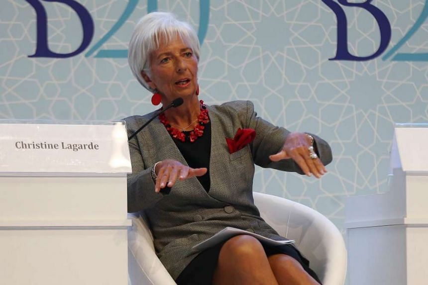 International Monetary Fund (IMF) Managing Director Christine Lagarde speaking during the G-20 finance ministers meeting in Ankara, Turkey, on Sept 4, 2015.