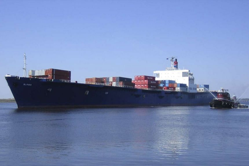 The US Coast Guard said on Monday, Oct 5, 2015, that they believed the El Faro (pictured), a cargo ship that disappeared after sailing into the path of Hurricane Joaquin, has sunk.