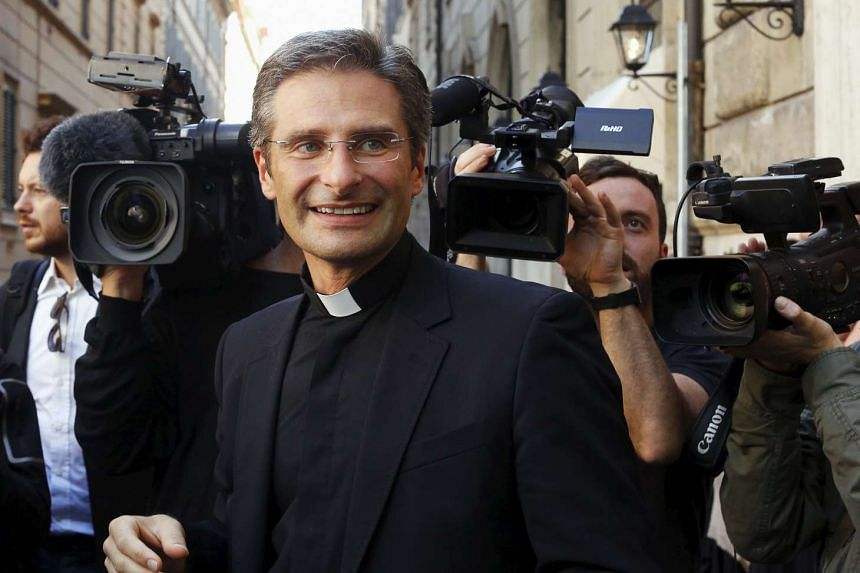 Mr Krzysztof Charamsa told a news conference in Rome he had felt compelled to speak out, saying he is happy about being out of the closet.
