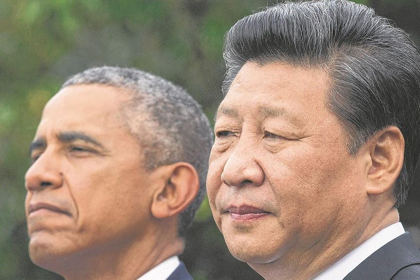 President of China Xi Jinping (right) and US President Barack Obama (left) at an event in Washington, DC, USA, on Sept 25, 2015.