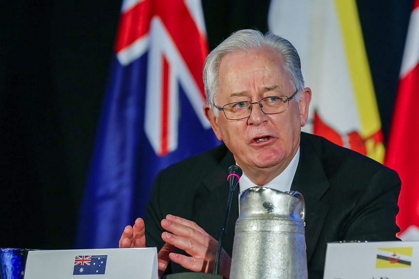 Australian Minister for Trade and Investment Andrew Robb speaking as the twelve Trans-Pacific Partnership (TPP) member countries participate in the closing press conference in Atlanta, Georgia, US, on Oct 5, 2015.