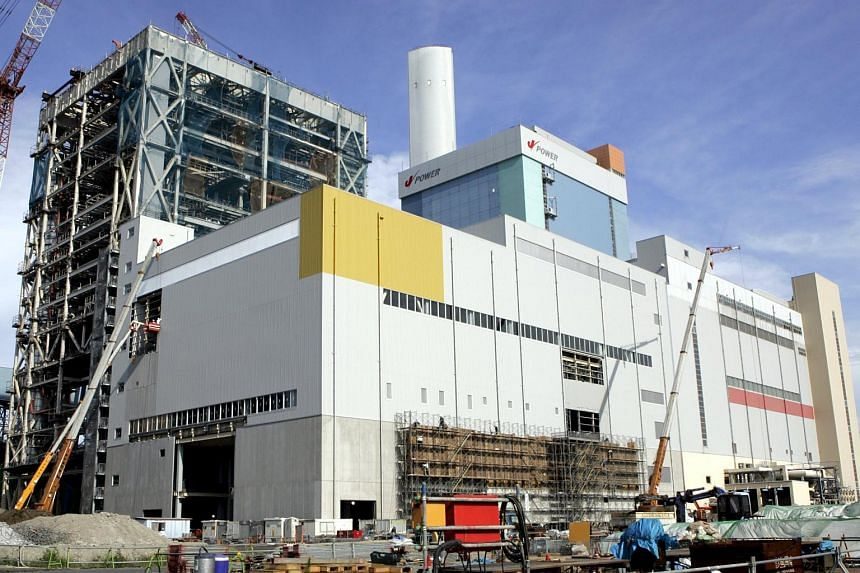 Electric Power Development (J-Power)'s coal-fired thermal plant is seen in Yokohama, south of Tokyo on Aug 7, 2007.