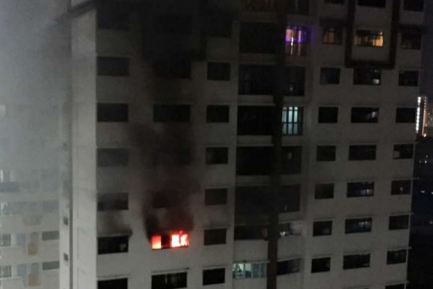 Koh Chong Huat was jailed for four months for causing a fire to break out in his flat at Choa Chu Kang Drive on Aug 1.