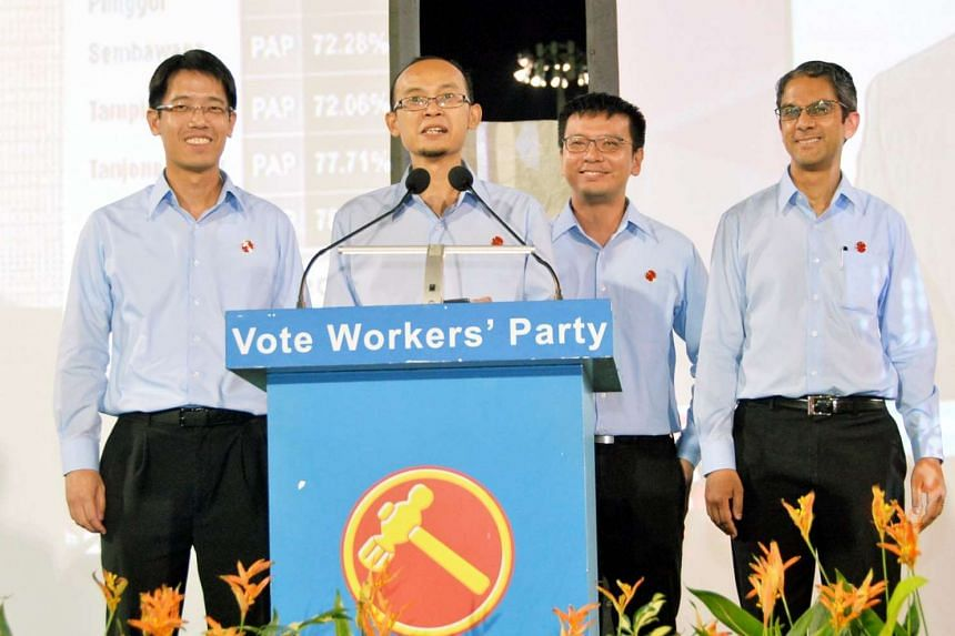 Leon Perera speaking at the Hougang Stadium during this year's General Election. He is one of the three co-opted on Oct 6 into the Central Executive Council (CEC).