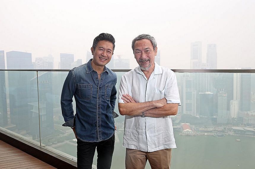Adrian Pang (above left) and Lim Kay Tong are two of the most recognisable actors working in Singapore today in film, television and on stage.
