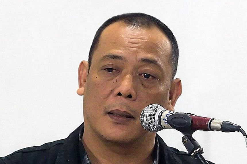 Author, actor and playwright Sitok Srengenge (above) is accused of impregnating a 22-year-old student and assaulting her in March 2013.