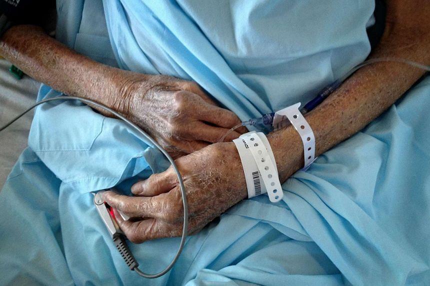 An ailing elderly patient.