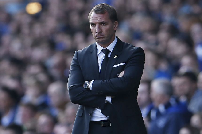 Liverpool manager Brendan Rodgers at the match against Everton on Sunday.