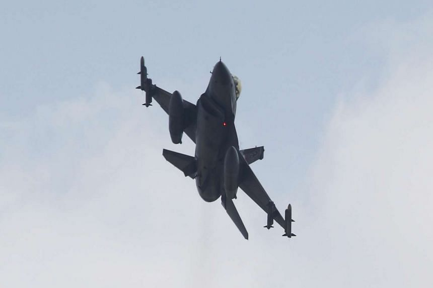A Turkish F-16 fighter jet taking off from Incirlik airbase in the southern city of Adana, Turkey, on July 27, 2015.