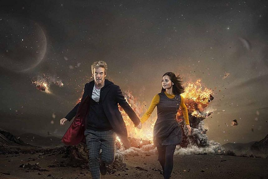 Jenna Coleman and Peter Capaldi in Doctor Who.